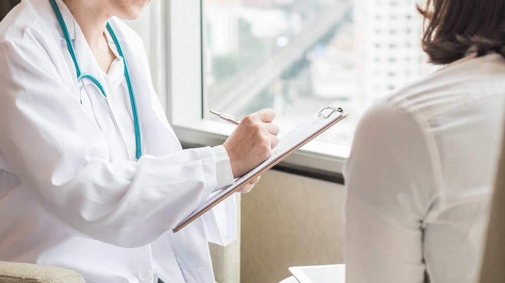 a doctor working
