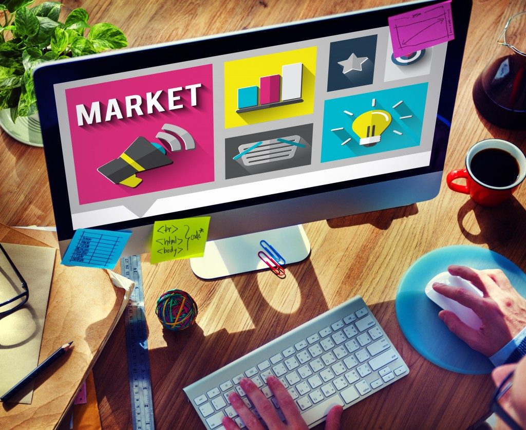 market concept on computer screen
