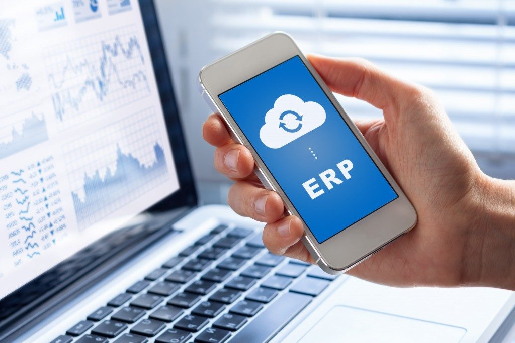 Enterprise resource planning mobile app