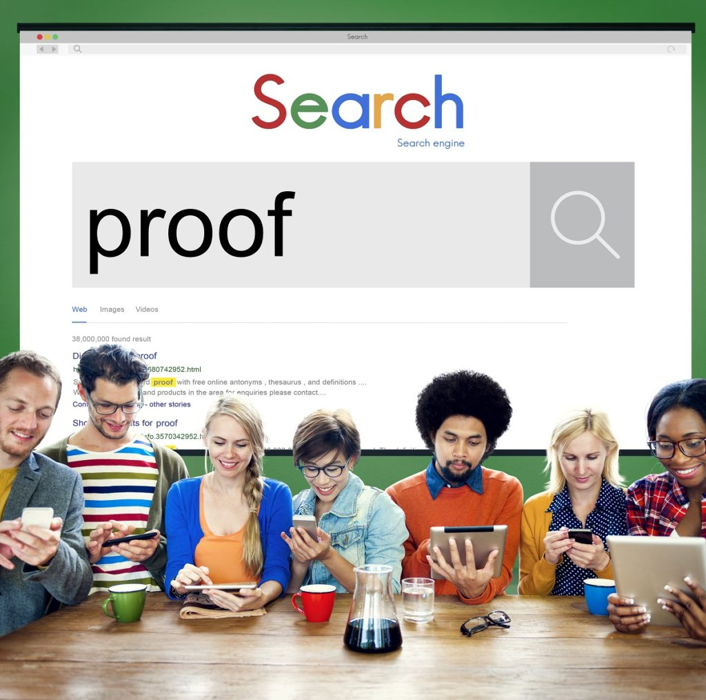 gen y searching proofs online