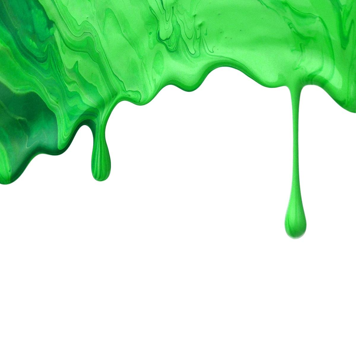 green thick liquid